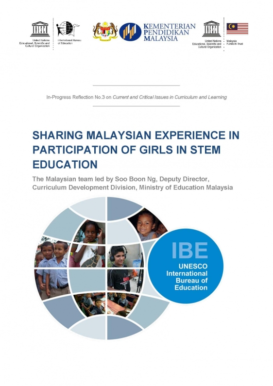 Sharing Malaysian Experience In Participation Of Girls In Stem Education International Bureau Of Education