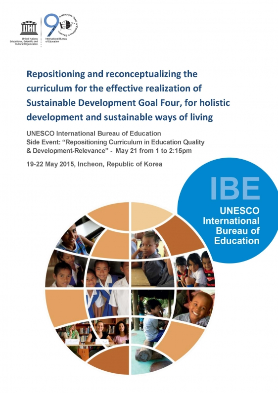 ibe discussion paper  repositioning and reconceptualizing the curriculum
