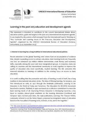 UNESCO_IBE_Statement_on_Learning_Post-2015