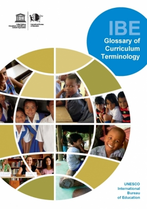 Cover Glossary of Curriculum Terminology
