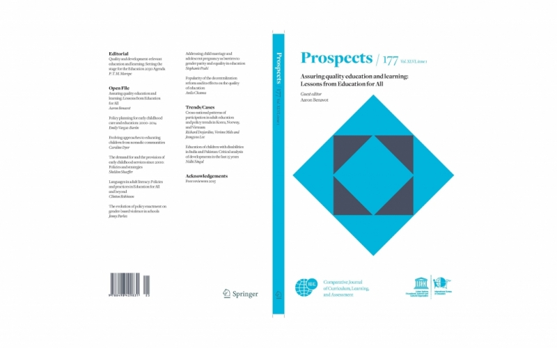 Prospects. Assuring quality education and learning: Lessons from Education for All. 177