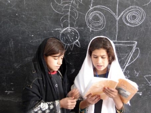 Pupils at the Lycee Mahmud Tarzi. Kandahar, Afghanistan, 2007; National Curriculum Reform Proposal; Education and economic development