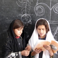 Pupils at the Lycee Mahmud Tarzi. Kandahar, Afghanistan, 2007